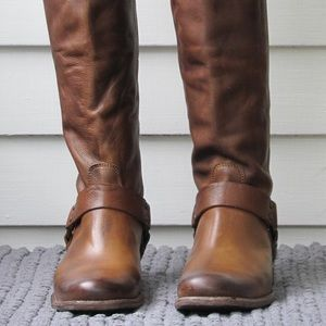 Frye Philip Harness Boot Re-Soled Size 10